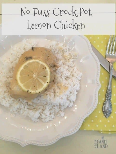 No fuss crockpot lemon chicken