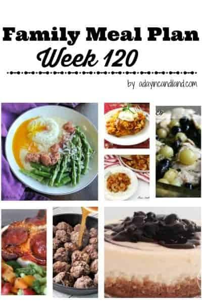 Easy Family Meal Plan 120
