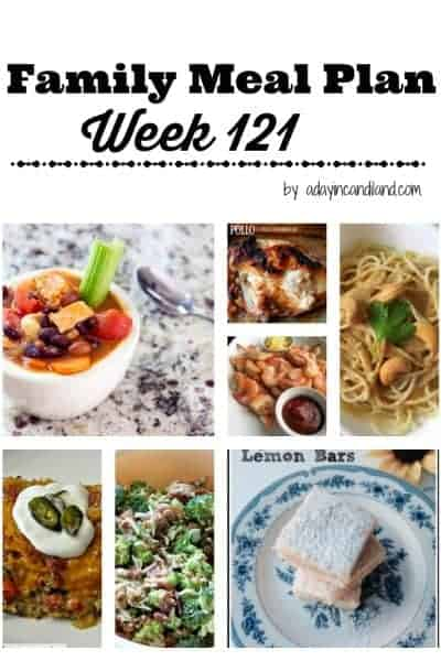 Easy Family Meal Plan 121