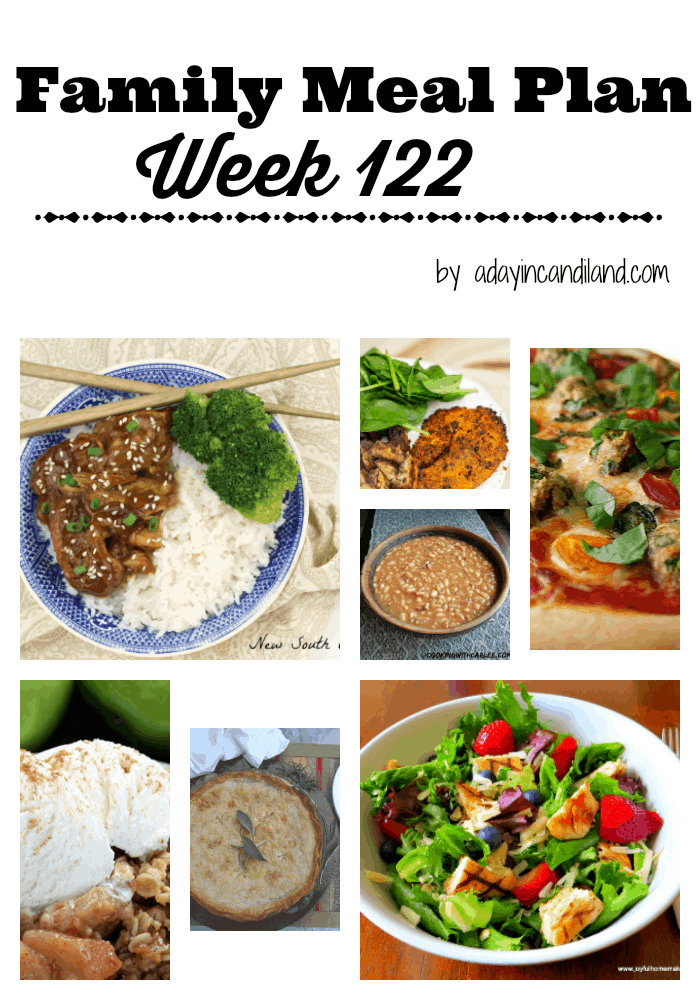 Easy Family Meal Plan 122
