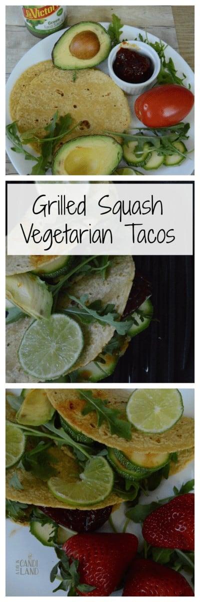Grilled Squash Vegetarian Tacos Hero Image