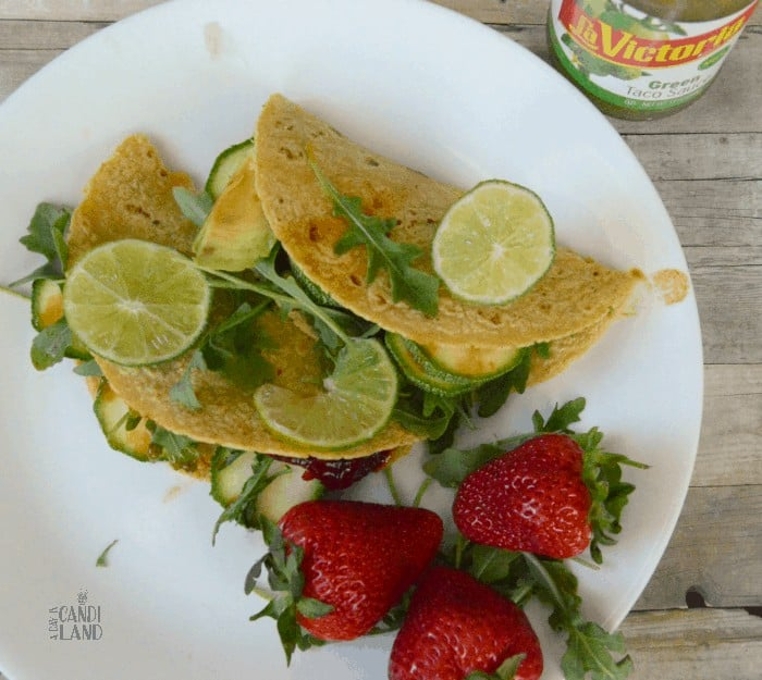 Grilled Squash Vegetarian Tacos with Strawberries