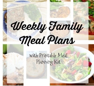 Sidebar Family Meal Plan Week 122 for busy moms