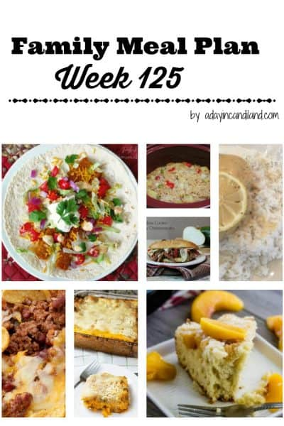 Easy Family Meal Plan 125