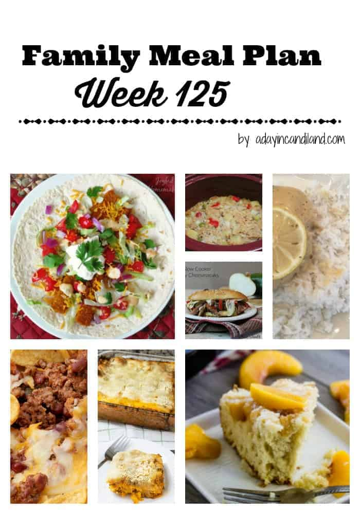 Family Meal Plan Week 125