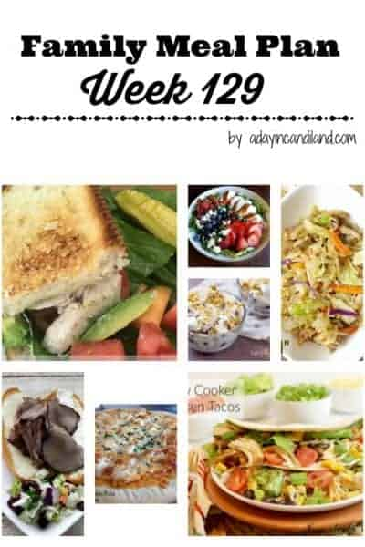 Easy Family Meal Plan 129