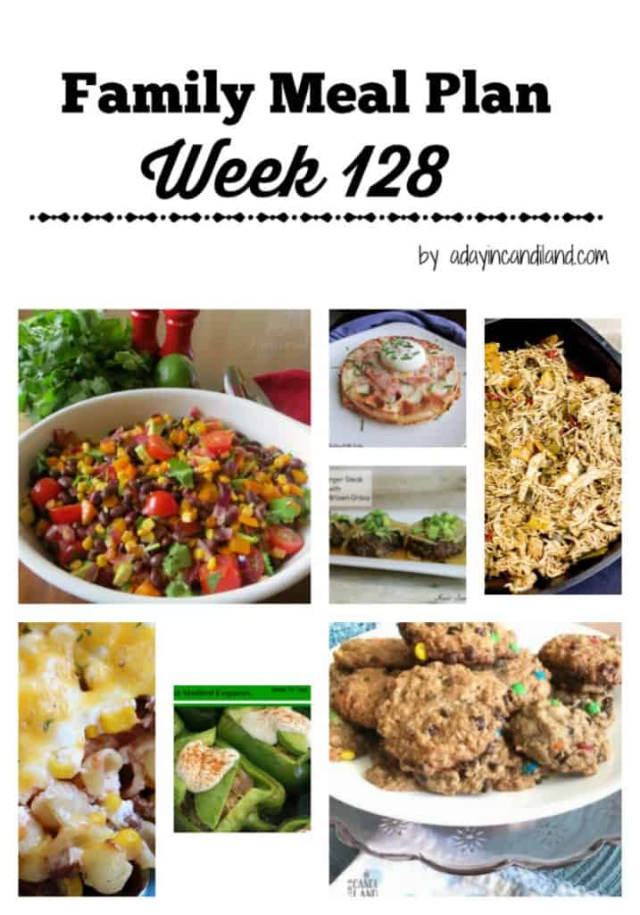 Family Meal Plan Week 128