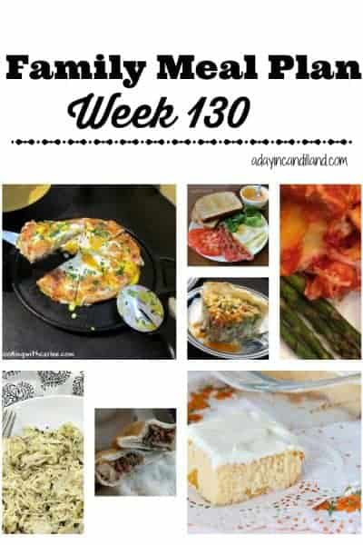 Easy Family Meal Plan 130
