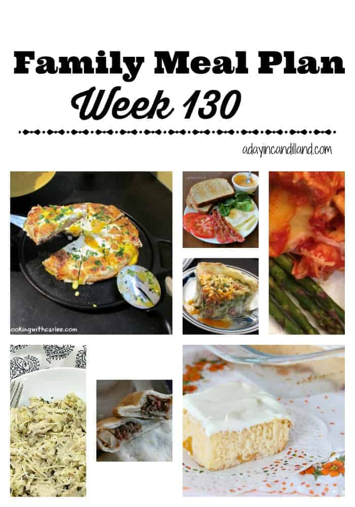 Family Meal Plan week 130 6 dinners and 1 dessert recipes