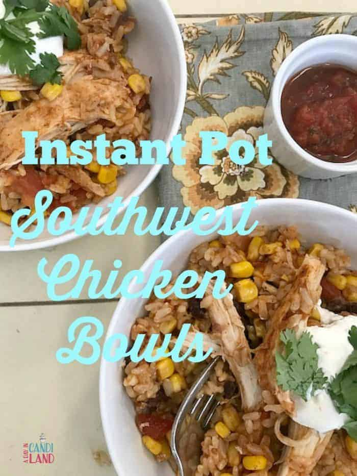 Chicken Bowl Recipe: Two bowls of Southwest chicken and rice