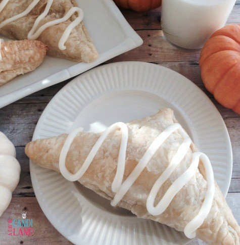 Pumpkin cream cheese turnover
