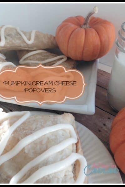 Easy Pumpkin Cream Cheese Popovers