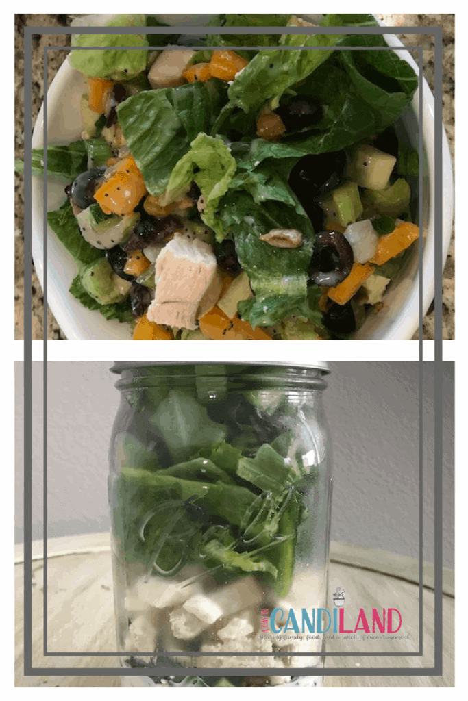Easy Green and Veggie Salad in a Jar. Meal Prepping.