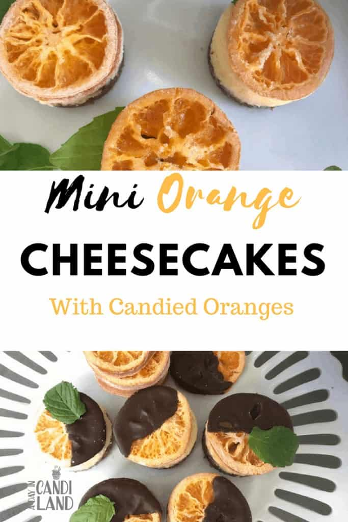 Mini Orange cheesecakes with oranges