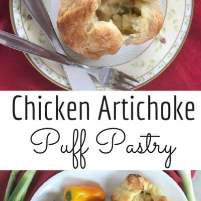 Chicken Artichoke Puff Pastry Appetizers