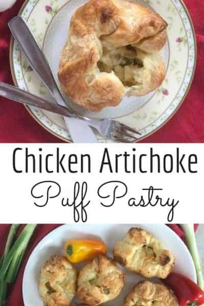 Chicken Artichoke Puff Pastry