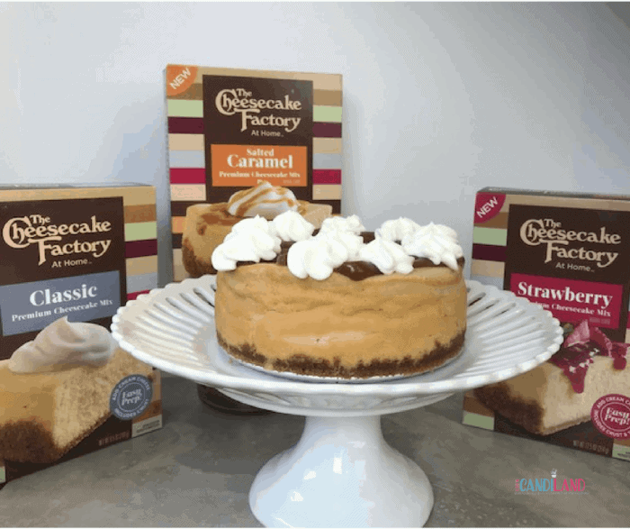 Easy Salted Caramel Cheesecake with The Cheesecake Factory at Home Box Mixes