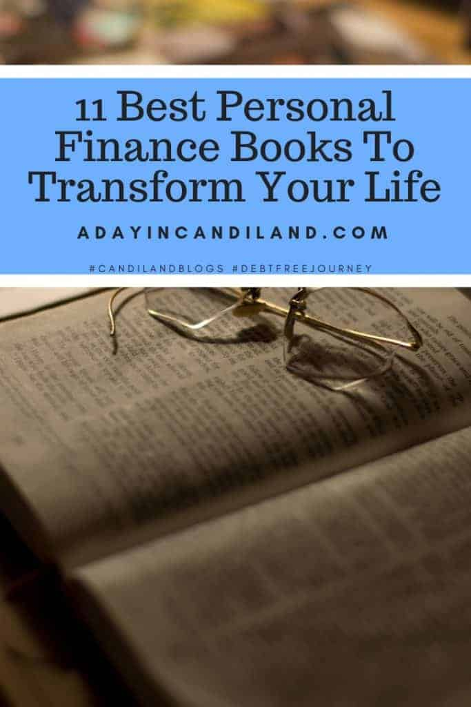 11 Personal Finance Books to Start Your Debt Free Journey with A Day in Candiland #debtfreejourney