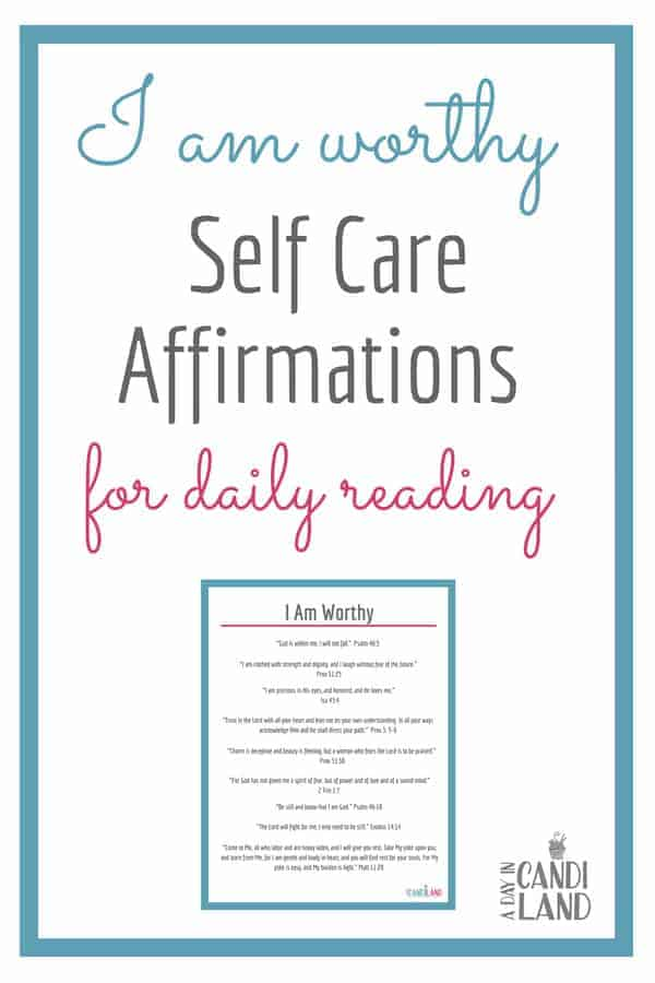10 Activities for Self Care on a Budget including daily scripture affirmations