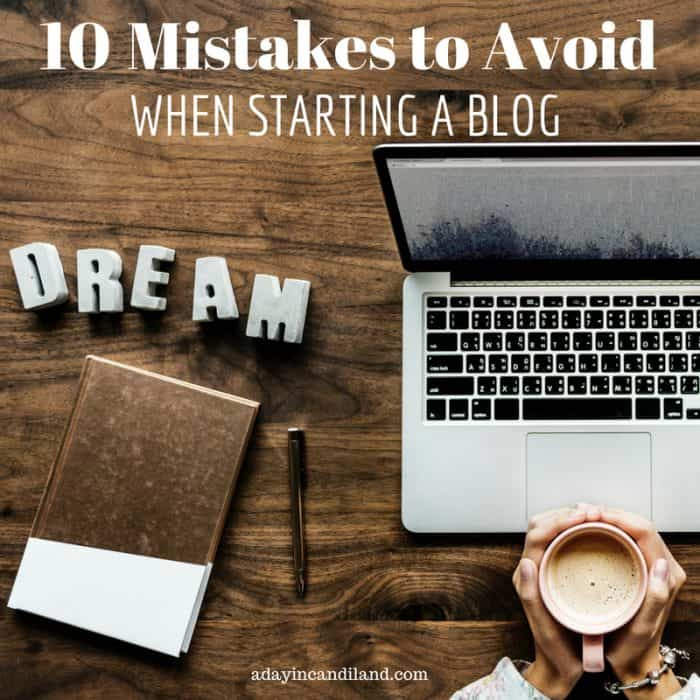 10 blogging Mistakes to avoid when starting a blog laptop, dream sign, journal, pen and cup of coffee