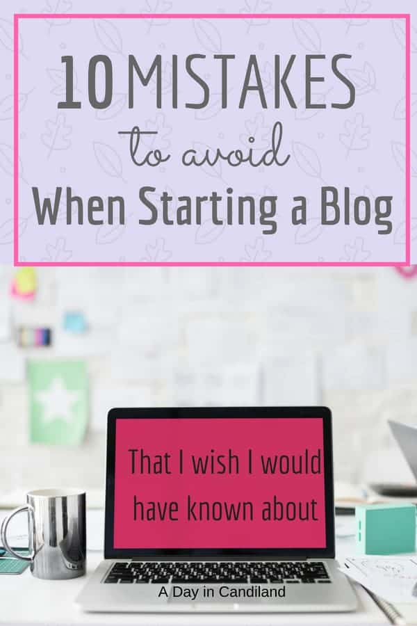 10 blogging Mistakes to avoid when starting a blog. Laptop on table with cup of coffee