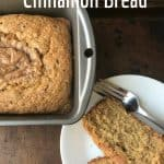 Amish Cinnamon Bread loaf pan and plate of slices Main Image