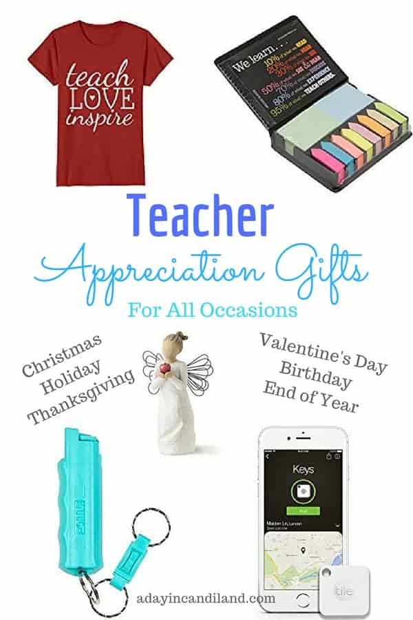 Teacher Appreciation Gifts for all occasions.