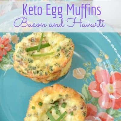 Keto Egg Muffins with Bacon and Havarti Cheese