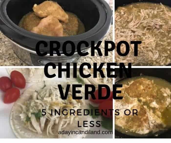 Crockpot Chicken Verde 5 ingredients or less