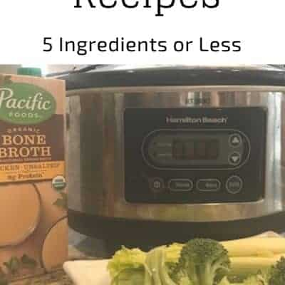 5 Ingredient or Less Crockpot Meals