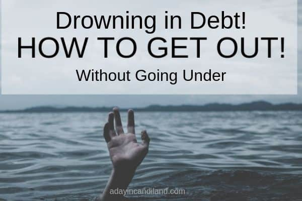 Drowning in debt how to get out without going under