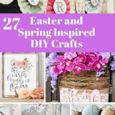 27 DIY Easter and Spring Inspired Crafts