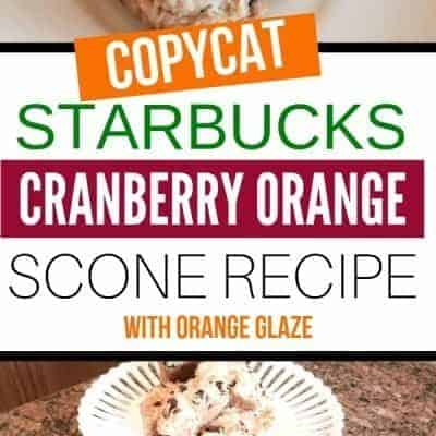 Cranberry Orange Scones Starbucks Copycat Recipe