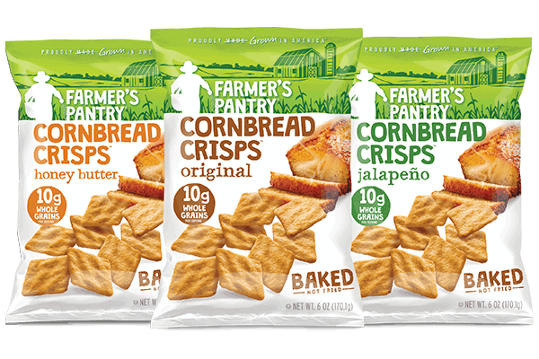 3 Bags of Cornbread Crisps for Tropical Fruit Salsa