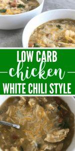 Low Carb Chicken White Chili Recipe