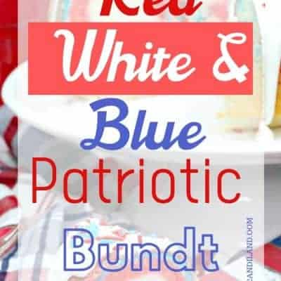Red White and Blue Bundt Cake