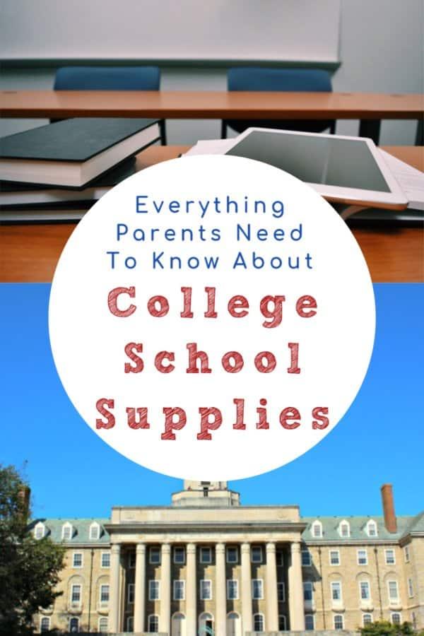 best advice about college school supplies