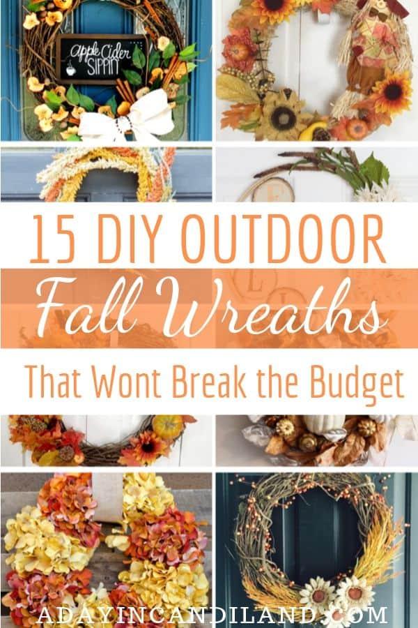 15 Outdoor DIY Fall Wreaths