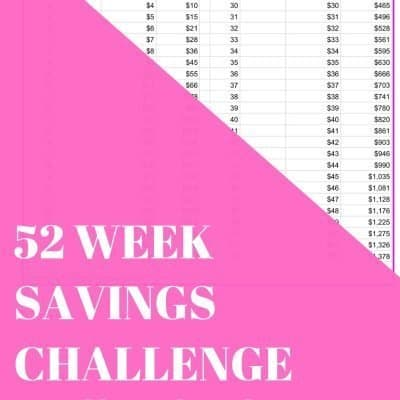 How to Be Successful with the 52 Week Savings Challenge