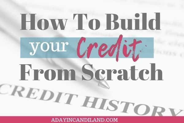 Build your credit from scratch