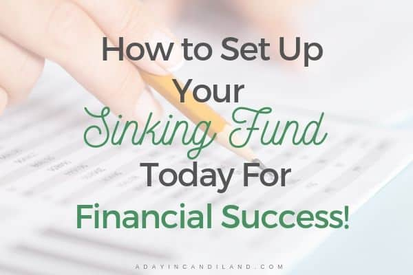 What Are Sinking Funds a person using a pencil on a spreadsheet