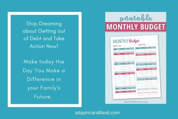 Monthly Budget Printable Worksheet