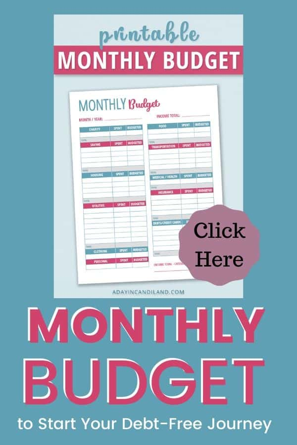 Monthly Budget Worksheet Free Printable