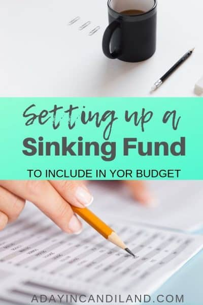 Set up a sinking fund in your personal budget