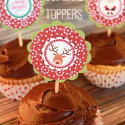 Christmas Cupcake Toppers with free Printable