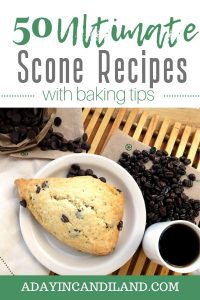 Scone on white plate