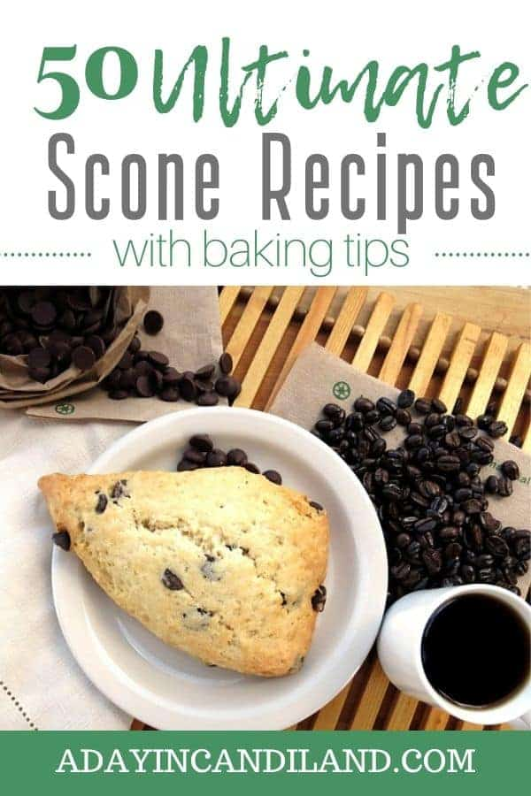 Scone on a white plate with cup of coffee