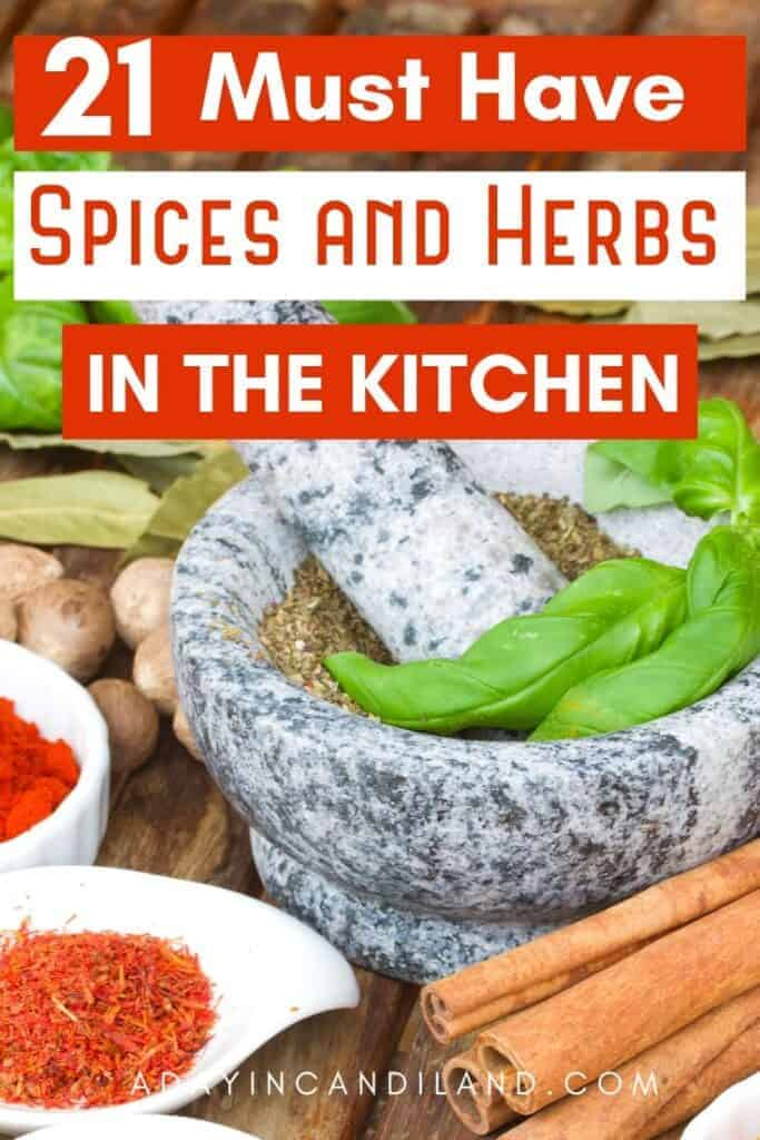 Must Have Spices and Herbs