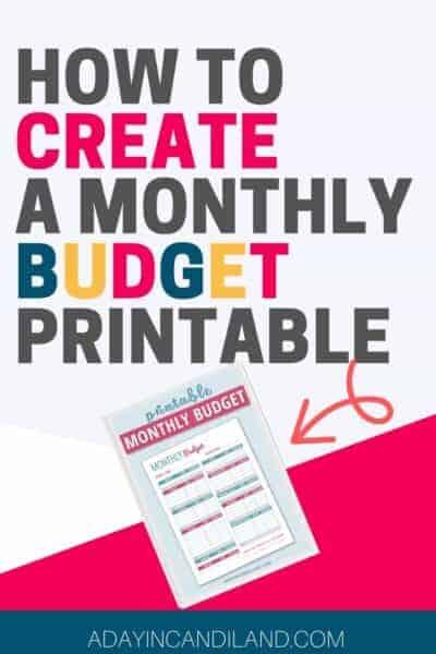 Monthly Budget Free Printable Worksheet