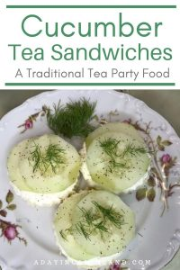 Cucumber Tea Sandwiches on plate